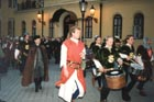 Guests are accompanied by the Knightly order of St. George from Visegrád (Hungary).
