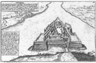 The fortress of Komárno at the end of the 16.century. According to Hoefnagel brothers.