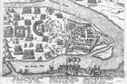 Siege of Komárno in 1594. For the autor the cut of Venezia from 1567 was a model for portrayal of historical scenery.