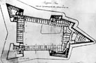 Plan of rebuilding of the old fortress in years 1827 - 1839.