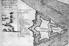 Ground - plan of old and new fortress with naming of fortification segments from the 17. century. Cut of Gaspar Bouttats according to F. Wymes.