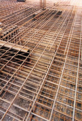 The works on the concrete reinforcement